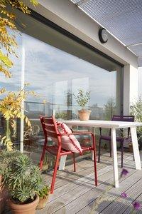 Table de jardin Nice blanc 100 x 100 cm-Image 1