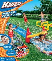 Banzai toboggan aquatique Aqua Blast Obstacle Course-Avant