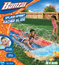 Banzai toboggan aquatique gonflable Splash Sprint Racing Slide-Avant