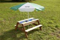 AXI table de pique-nique pour enfants Nick Sable et Eau avec parasol-Image 1