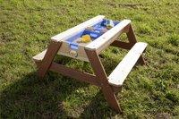AXI table de pique-nique pour enfants Nick Sable et Eau avec parasol-Image 2