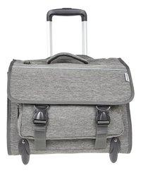 Kangourou trolley-boekentas grijs 44 cm-Vooraanzicht