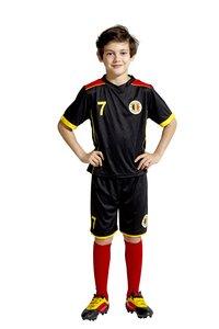 Voetbaloutfit België zwart maat 104-Afbeelding 3