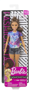 Barbie poupée mannequin  Fashionistas Petite 112 - Tie Dye Dreamer-Avant