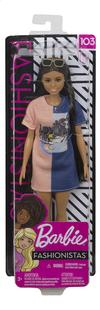 Barbie poupée mannequin  Fashionistas Petite 103 - Tone Graphic Dress-Avant