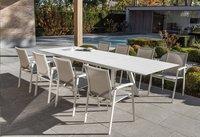 Ocean table de jardin à rallonge Lanna blanc L 200 x Lg 110 cm-Image 2