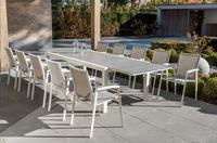 Ocean table de jardin à rallonge Lissabon blanc L 220 x Lg 106.4 cm
