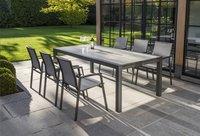 Ocean table de jardin à rallonge Lissabon charcoal L 220 x Lg 106 cm-Image 3