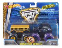 Hot Wheels Monster Truck Demolition Doubles Higher Education VS Mohawk Warrior-Avant