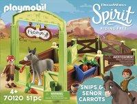 PLAYMOBIL Spirit 70120 Knip en Meneer Worteltjes met paardenbox-Vooraanzicht