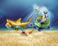 PLAYMOBIL Magic 70097 Koning der zeeën met haaienkoets-Afbeelding 1