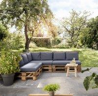 Madison coussin pour palette assise Panama 120 x 80 Bleu Saphir-Image 1