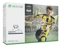 XBOX One S 500 GB + Fifa 17 met Fifa Legends-Linkerzijde