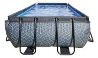 EXIT zwembad Stone met overkapping en zandfilter 4 x 2 m-Vooraanzicht