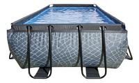 EXIT zwembad Stone met overkapping 4 x 2 m-Vooraanzicht