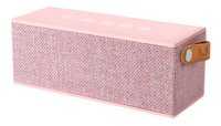 Fresh 'n Rebel haut-parleur Bluetooth Rockbox Brick Fabric Edition rose