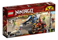 LEGO Ninjago 70667 Zwaardmotor van Kai & Sneeuwscooter van Zane-Linkerzijde
