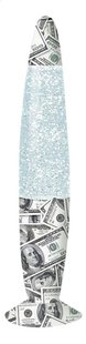 Lavalamp Glitter Dollar grijs/wit