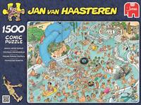 Jumbo puzzel Jan Van Haasteren Tropisch zwemparadijs-Vooraanzicht