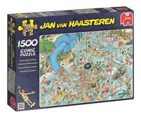 Jumbo puzzel Jan Van Haasteren Tropisch zwemparadijs-Linkerzijde
