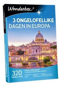 Wonderbox 3 Ongelofelijke Dagen in Europa-Vooraanzicht