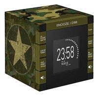 bigben Wekkerradio met projectie RR70 Army camouflage-Linkerzijde