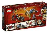 LEGO Ninjago 70667 Zwaardmotor van Kai & Sneeuwscooter van Zane-Achteraanzicht