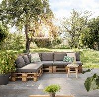 Madison coussin d'assise pour palette Panama 120 x 80 gris-Image 1