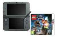 Nintendo console New 3DS XL zwart + LEGO Jurassic World ENG