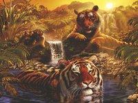 Ravensburger puzzle Le bain des tigres
