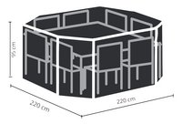 Outdoor Covers beschermhoes voor tuinset L 220 x B 220 x H 95 cm polyethyleen-Artikeldetail