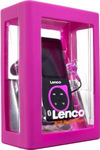 Lenco lecteur MP4 Xemio-767 BT 8 Go noir/rose