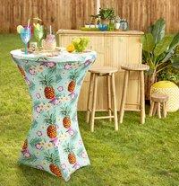 Stretchhoes voor statafel Tropical diameter 80 cm ananas en bloemen-Afbeelding 3