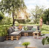Madison coussin d'assise pour palette Panama 120 x 80 gris-Image 2
