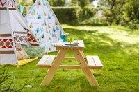 Pinolino table de pique-nique pour enfants Nicki naturel-Image 2