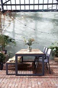 Ocean ensemble de jardin Selena/Bondi 1 banc et 3 chaises anthracite-Image 3