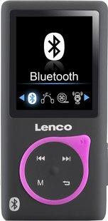 Lenco mp4-speler Xemio-767 BT 8 GB zwart/roze-Vooraanzicht