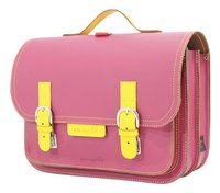 # Own Stuff boekentas Yellow/Fuchsia 38 cm