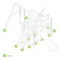Fatmoose portique RockyRanch Roll XXL avec tobbogan vert-product 3d drawing