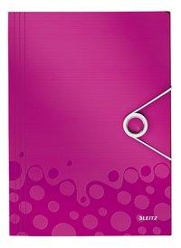 Leitz elastomap WOW A4 roze-Vooraanzicht