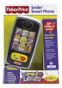 Fisher-Price Mon premier téléphone portable Laugh & Learn Smilin' Smart Phone FR-Détail de l'article