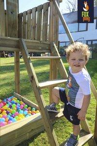 Fox play schommel met speeltoren Riverside met appelgroene glijbaan-Afbeelding 2