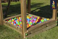 Fox play schommel met speeltoren Riverside met appelgroene glijbaan-Afbeelding 3