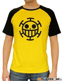 T-shirt One Piece Trafalgar Law man SS geel L