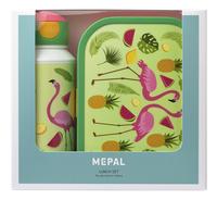 Mepal brooddoos en drinkfles Campus - Tropical flamingo-Vooraanzicht