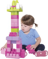 Mega Bloks First Builders Sac de blocs rose-Image 1