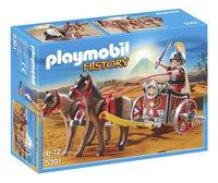 Playmobil History 5391 Romeinse strijdwagen met tribuun-Vooraanzicht