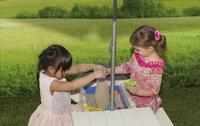 AXI table de pique-nique pour enfants Delta Sable et Eau avec parasol-Image 1