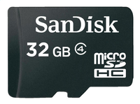 SanDisk geheugenkaart microSDHC Class 4 32 GB