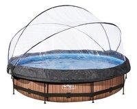 EXIT zwembad Wood met overkapping Ø 3,6 m-Vooraanzicht